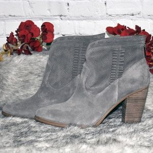 Vince Camuto Shoes - Perforated Suede Ankle Boots - Fretzia (Sz 9M)